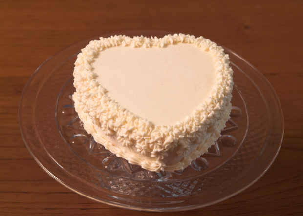 Small Heart Wedding Cake for Lake Lucerne Resort and Ranch weddings.