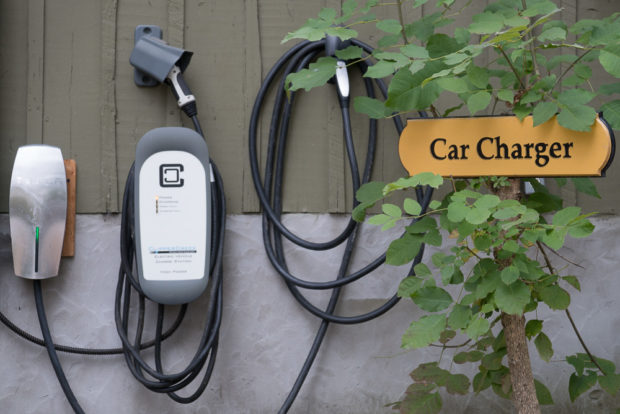 Two car charger at Lake Lucerne Resort and Ranch